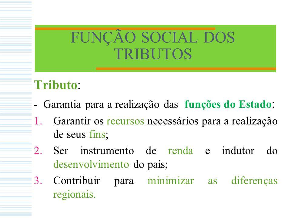 FUNÇÃO SOCIAL DOS TRIBUTOS INTRODUÇÃO - Entender a função social do tributo significa compreender que o Estado existe para a consecução do bem comum e que a sociedade é a destinatária dos recursos arrecadados pelo governo.