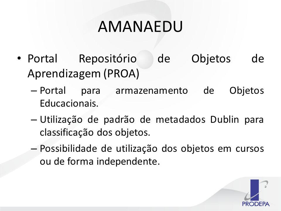 Portal Repositório de Objetos de Aprendizagem (PROA) – Portal para armazenamento de Objetos Educacionais.