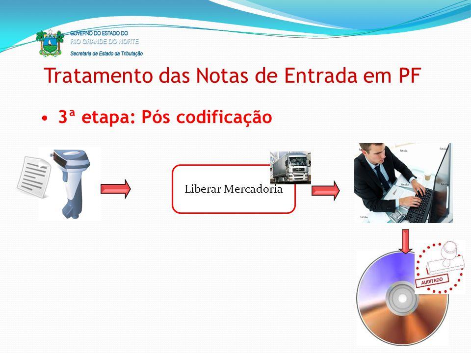 Tratamento das Notas de Entrada em PF 3ª etapa: Pós codificação Liberar Mercadoria