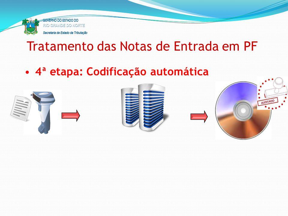 Tratamento das Notas de Entrada em PF 4ª etapa: Codificação automática