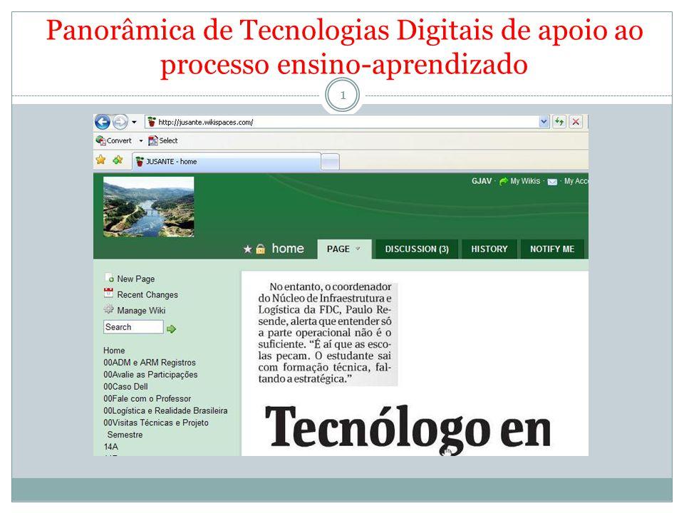 Panorâmica de Tecnologias Digitais de apoio ao processo ensino-aprendizado 1