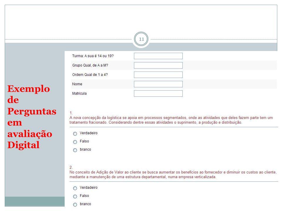 Exemplo de Perguntas em avaliação Digital 11