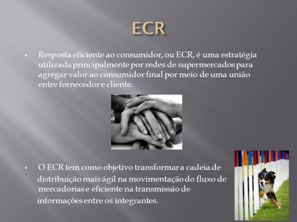 Resposta eficiente ao consumidor, ou ECR, é uma estratégia utilizada principalmente por redes de supermercados para agregar valor ao consumidor final por meio de uma união entre fornecedor e cliente.