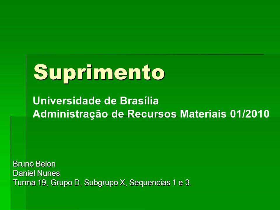 Suprimento Bruno Belon Daniel Nunes Turma 19, Grupo D, Subgrupo X, Sequencias 1 e 3.