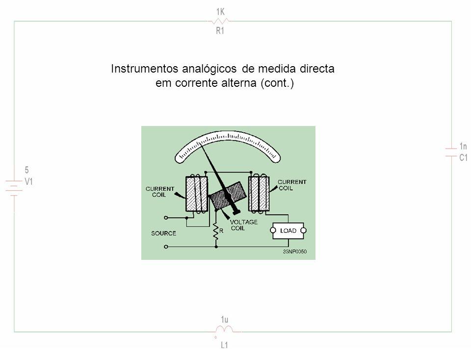 Instrumentos analógicos de medida directa em corrente alterna (cont.)