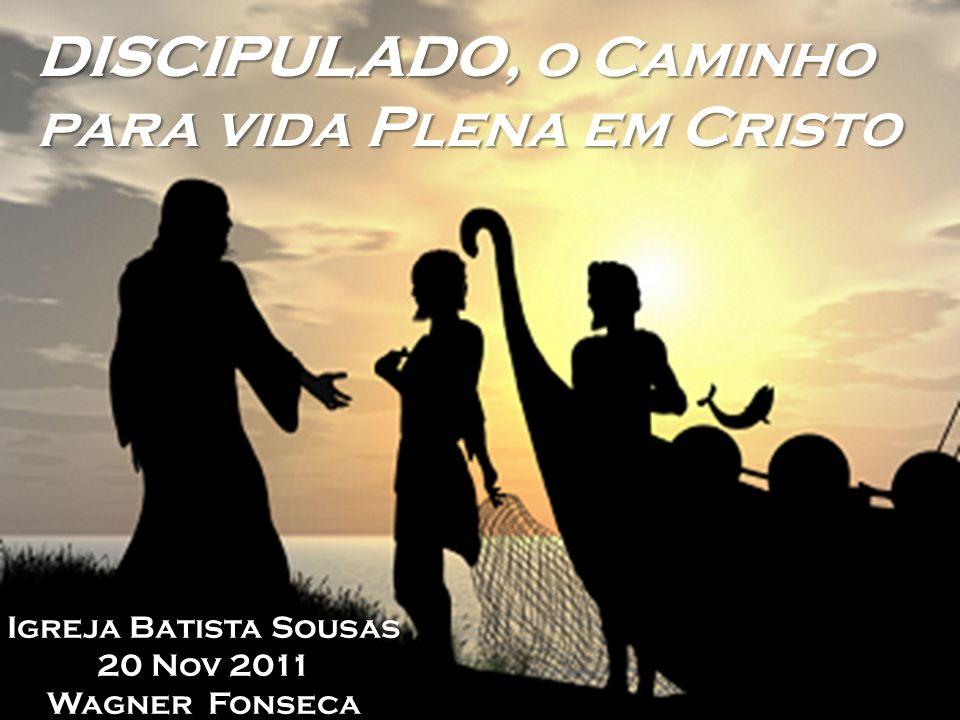 DISCIPULADO, o Caminho para vida Plena em Cristo Igreja Batista Sousas 20 Nov 2011 Wagner Fonseca