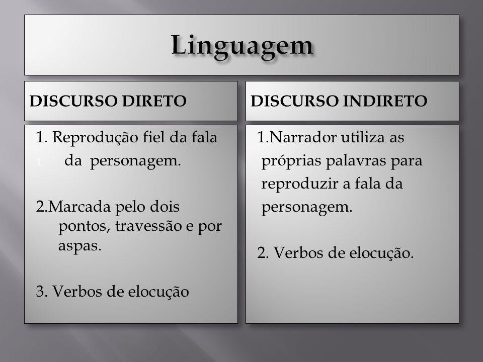 DISCURSO DIRETO DISCURSO INDIRETO 1.Reprodução fiel da fala 1.