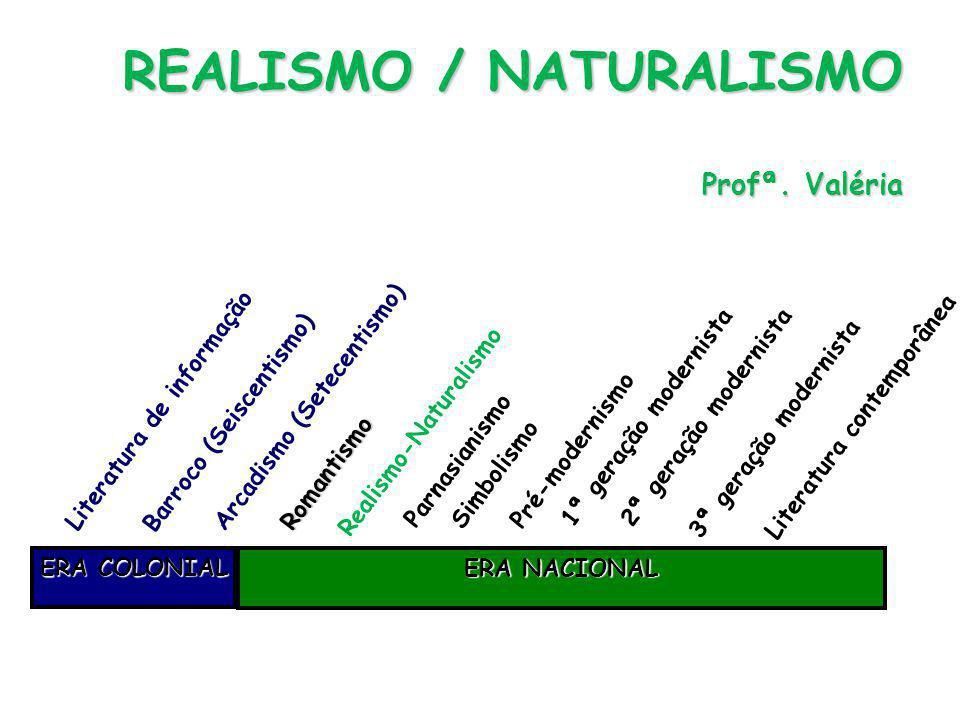 Características Características 4) Contemporaneidade - Românticos no passado, Realistas no presente - Universo urbano com possibilidades, horrores, realidades.