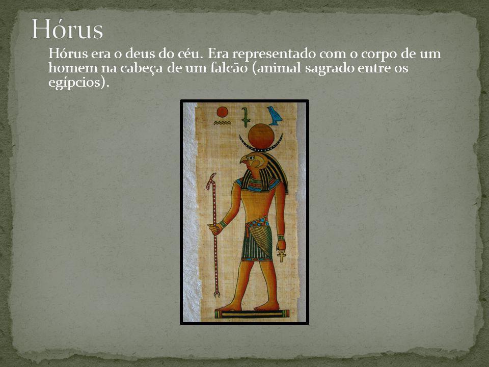 Hórus era o deus do céu.