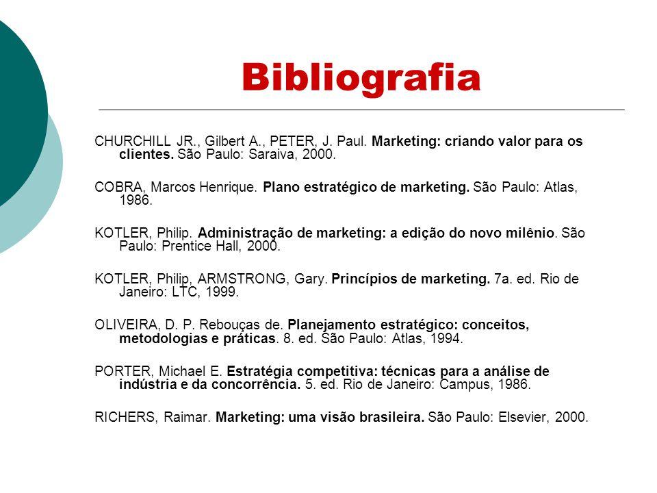 Bibliografia CHURCHILL JR., Gilbert A., PETER, J.Paul.