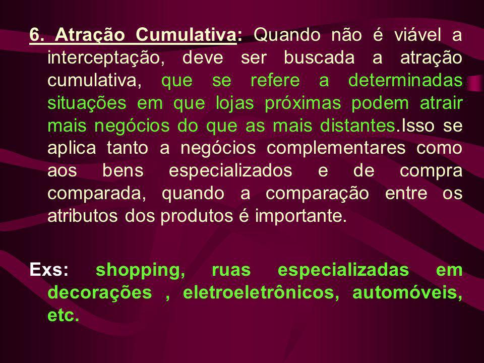 6. Atração Cumulativa: Quando não é viável a interceptação, deve ser buscada a atração cumulativa, que se refere a determinadas situações em que lojas