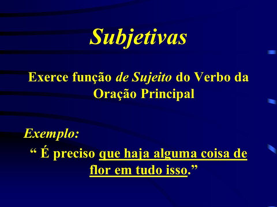 Classificação das Orações Subordinadas Substantivas Subjetiva Objetiva Direta Objetiva Indireta Completiva Nominal Predicativa Apositiva