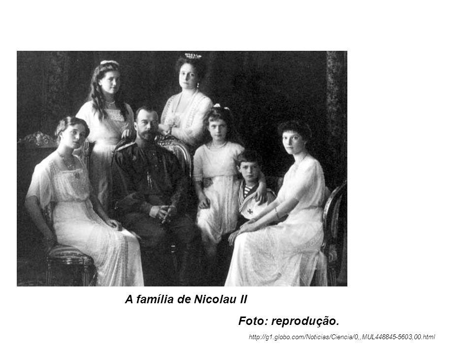 A família de Nicolau II Foto: reprodução. http://g1.globo.com/Noticias/Ciencia/0,,MUL448845-5603,00.html