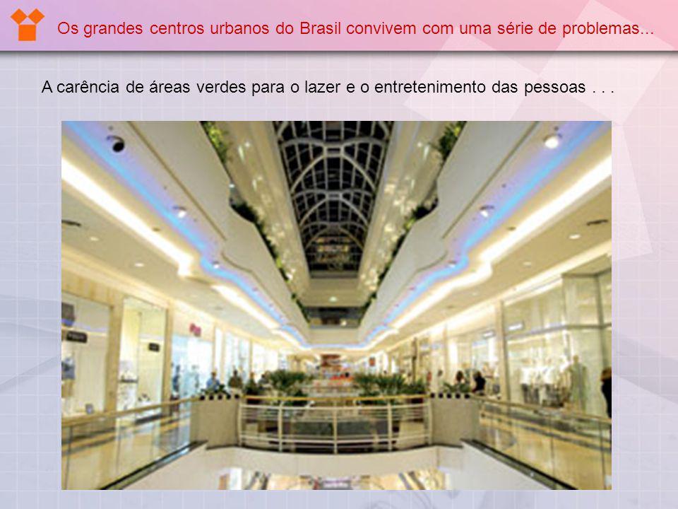 A carência de áreas verdes para o lazer e o entretenimento das pessoas... Os grandes centros urbanos do Brasil convivem com uma série de problemas...