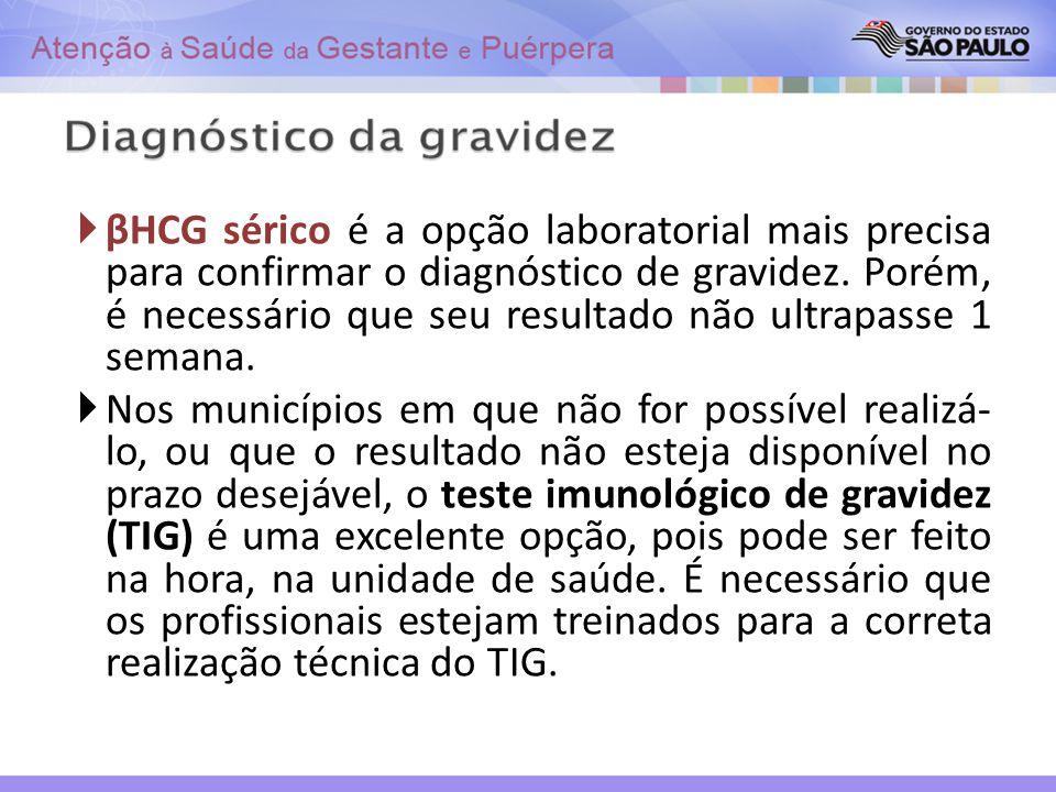 βHCG sérico é a opção laboratorial mais precisa para confirmar o diagnóstico de gravidez. Porém, é necessário que seu resultado não ultrapasse 1 seman