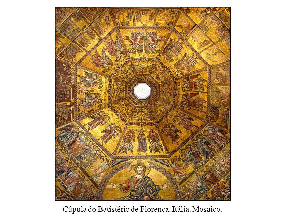 Cúpula do Batistério de Florença, Itália. Mosaico.