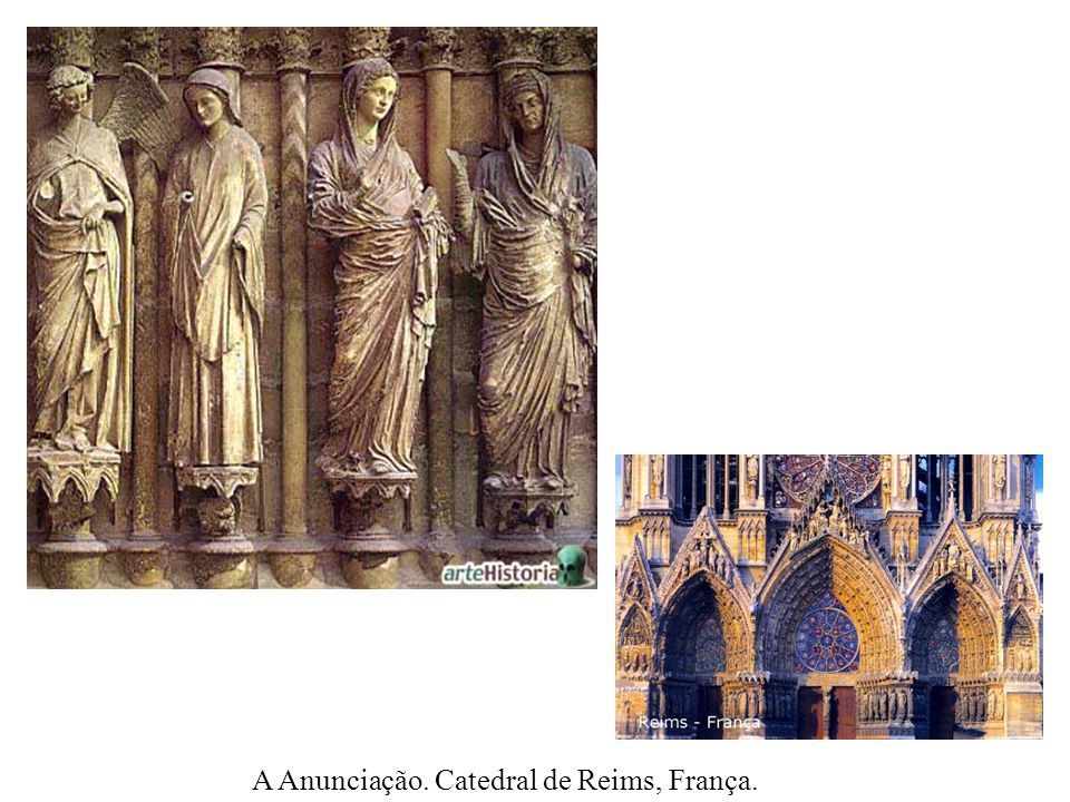 A Anunciação. Catedral de Reims, França.