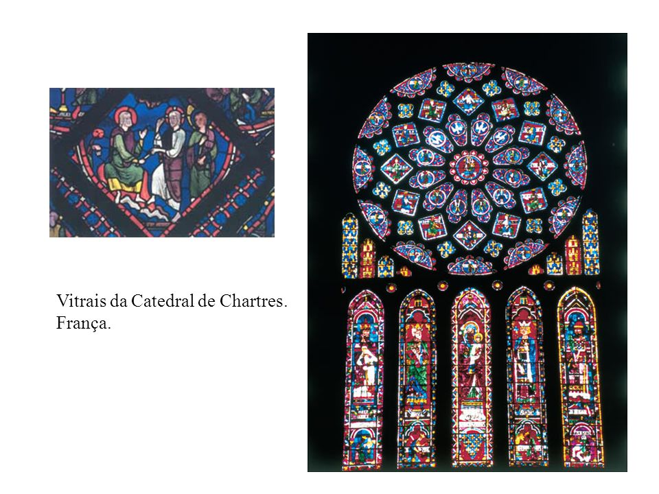 Vitrais da Catedral de Chartres. França.