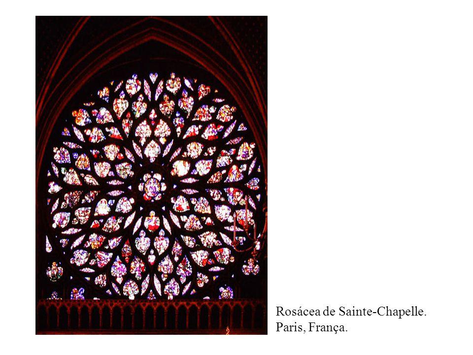 Rosácea de Sainte-Chapelle. Paris, França.