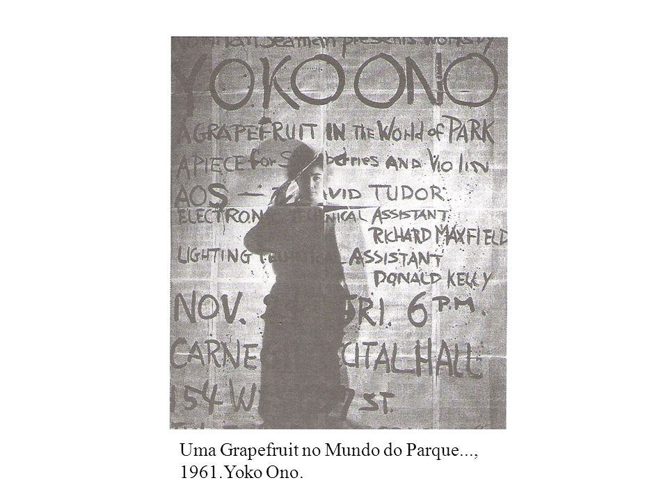 Uma Grapefruit no Mundo do Parque..., 1961.Yoko Ono.
