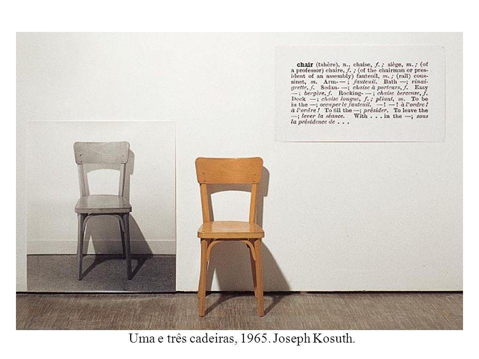 Uma e três cadeiras, 1965. Joseph Kosuth.