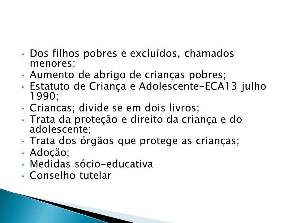 Constituição Brasileira 1988 Convenção sobre os Direitos da Criança.Dia 20 de novembro de 1989 No Brasil em 24 de setembro de 1990 2 Categorias; Dos f