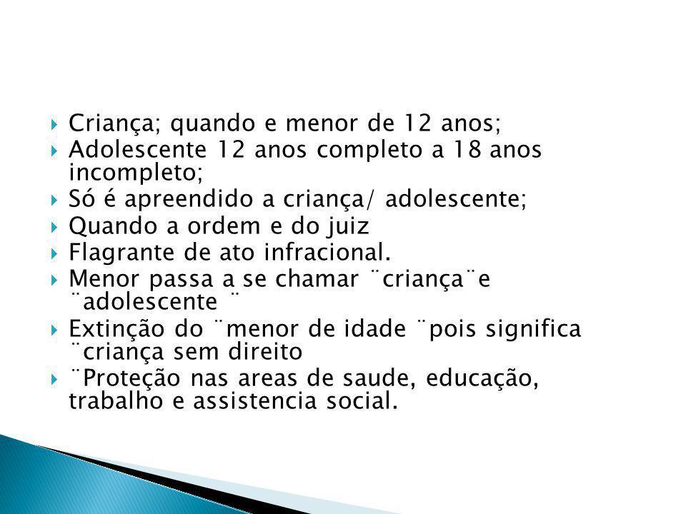 Dos filhos pobres e excluídos, chamados menores; Aumento de abrigo de crianças pobres; Estatuto de Criança e Adolescente-ECA13 julho 1990; Criancas; d