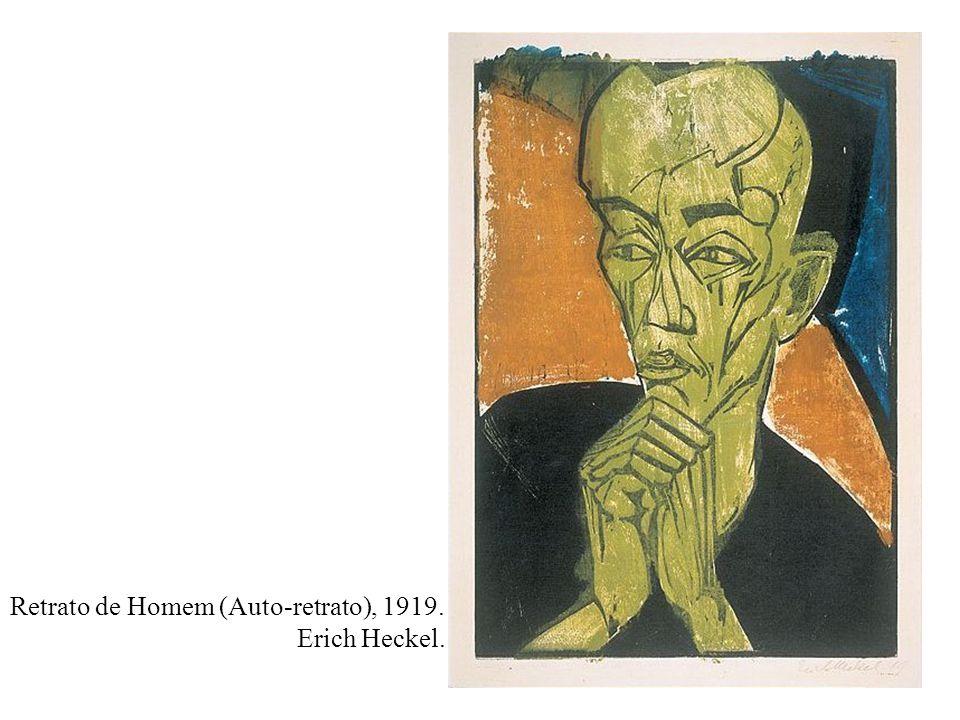 Retrato de Homem (Auto-retrato), 1919. Erich Heckel.