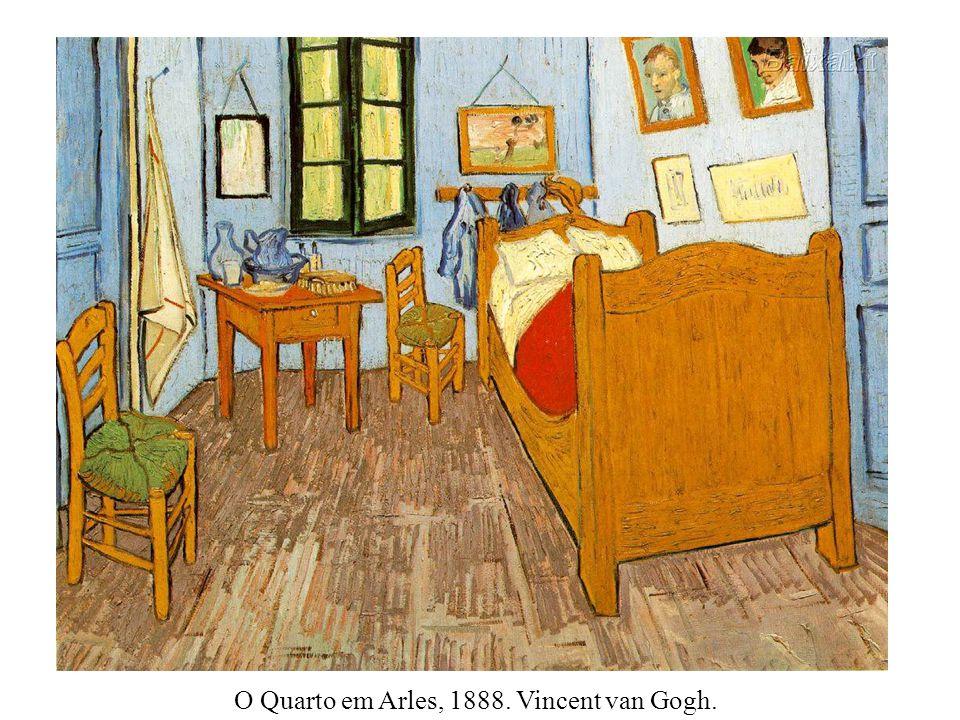 O Quarto em Arles, 1888. Vincent van Gogh.