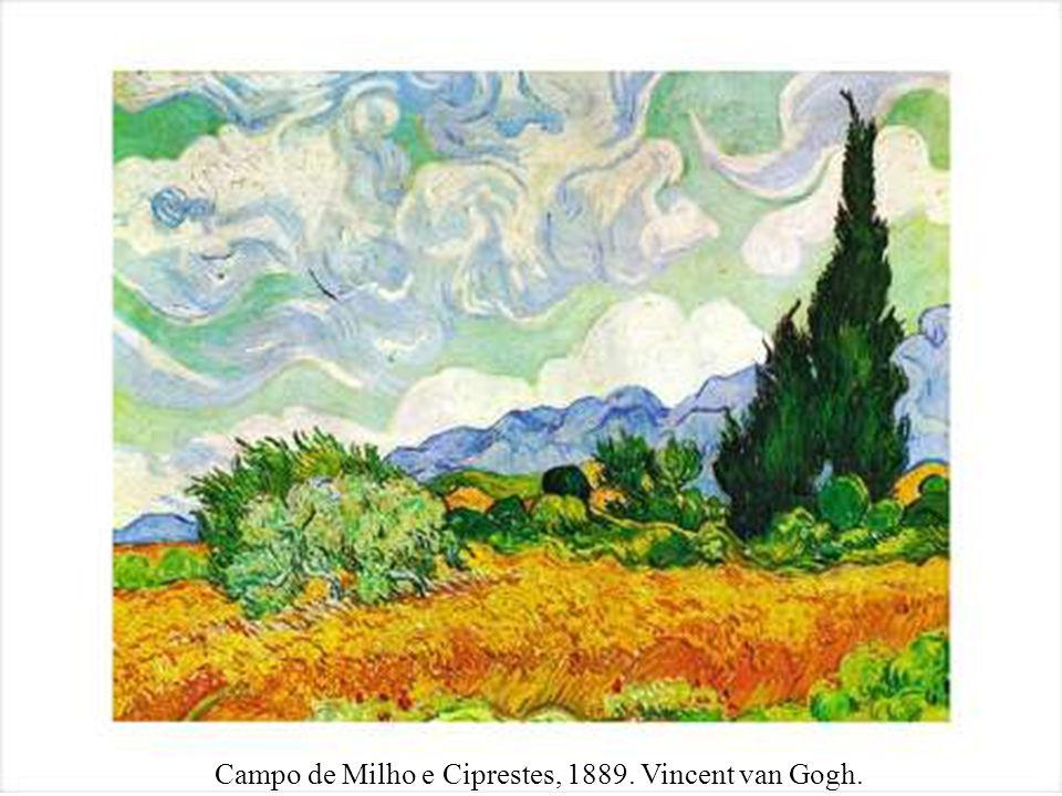 Campo de Milho e Ciprestes, 1889. Vincent van Gogh.