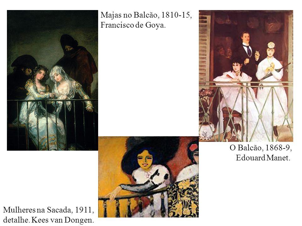 Majas no Balcão, 1810-15, Francisco de Goya.O Balcão, 1868-9, Edouard Manet.
