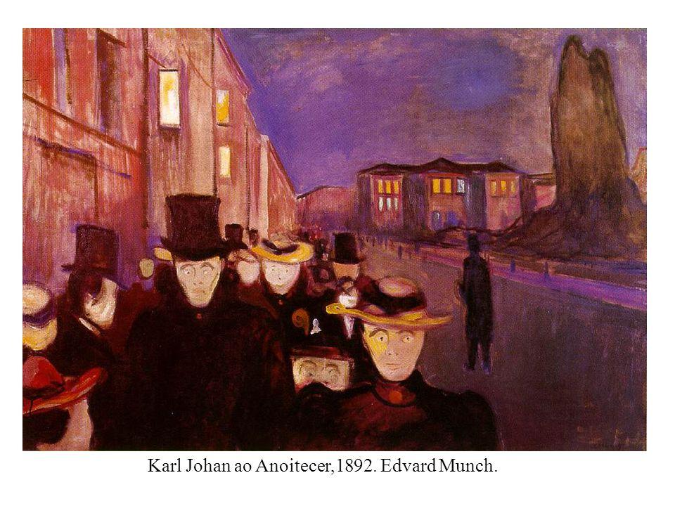 Karl Johan ao Anoitecer,1892. Edvard Munch.