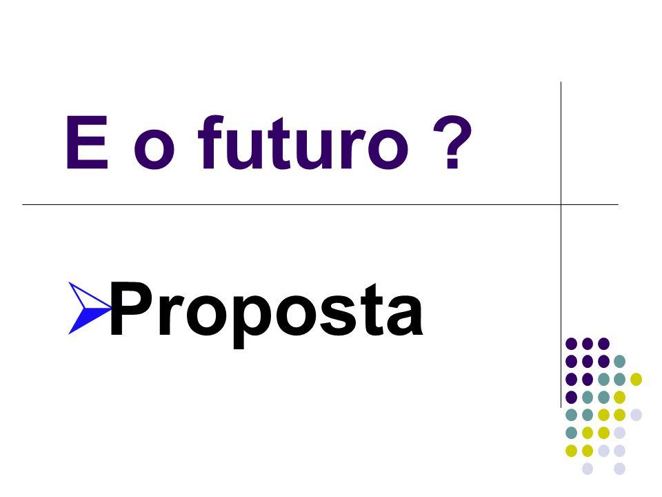 E o futuro ? Proposta