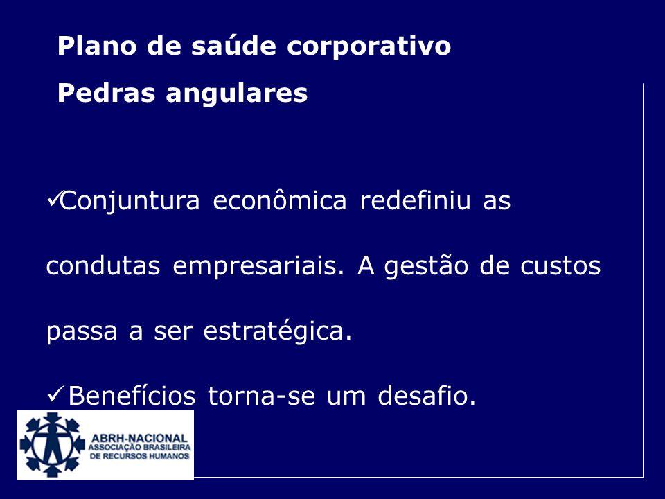 Plano de saúde corporativo Pedras angulares A regulação do setor foi benéfica. É um diferencial competitivo, numa prática assistencialista quase obrig