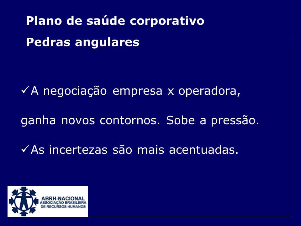 Plano de saúde corporativo Pedras angulares Conjuntura econômica redefiniu as condutas empresariais. A gestão de custos passa a ser estratégica. Benef