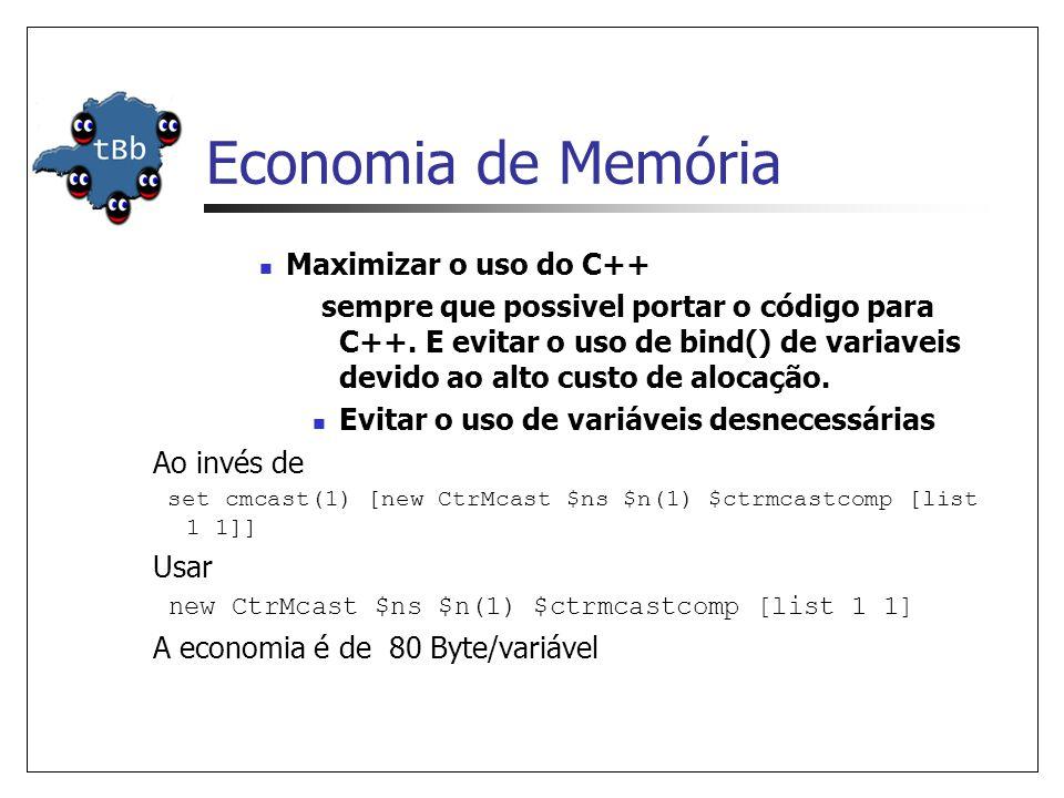 Economia de Memória Maximizar o uso do C++ sempre que possivel portar o código para C++.
