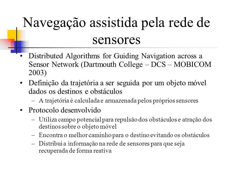Navegação assistida pela rede de sensores Distributed Algorithms for Guiding Navigation across a Sensor Network (Dartmouth College – DCS – MOBICOM 200