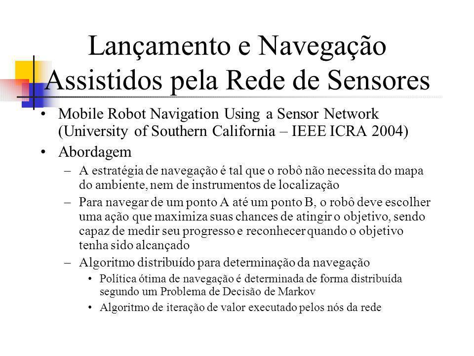 Lançamento e Navegação Assistidos pela Rede de Sensores Mobile Robot Navigation Using a Sensor Network (University of Southern California – IEEE ICRA