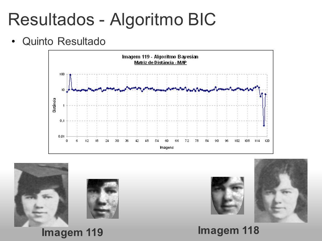 Resultados - Algoritmo BIC Quinto Resultado Imagem 119 Imagem 118