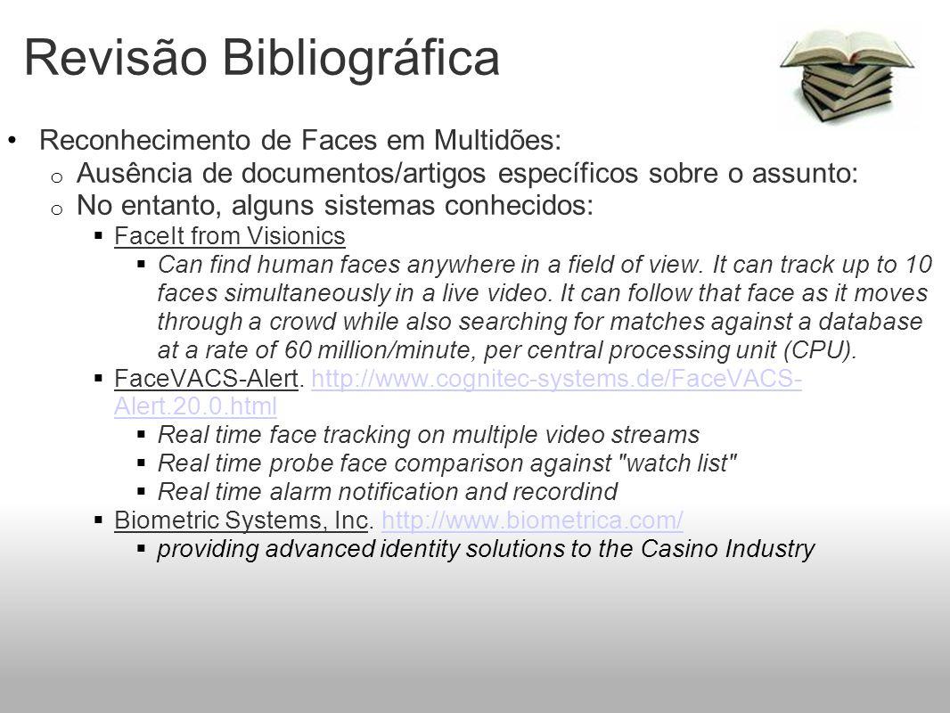 Revisão Bibliográfica Reconhecimento de Faces em Multidões: o Ausência de documentos/artigos específicos sobre o assunto: o No entanto, alguns sistema