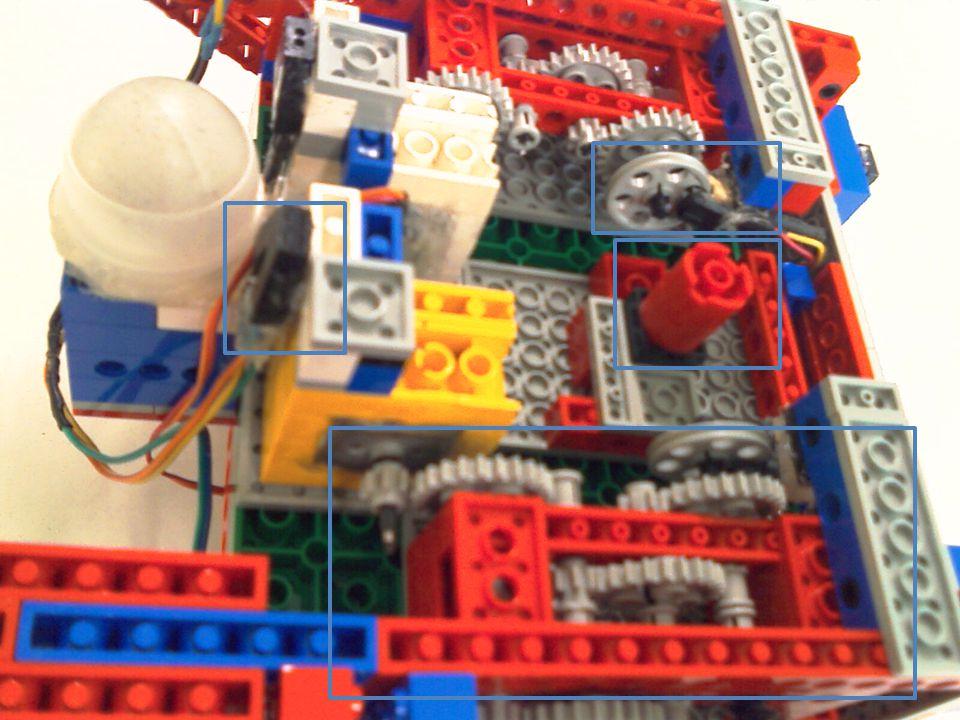 Caixa de Redução Diminui a velocidade e aumenta o torque = Robô mais robusto.