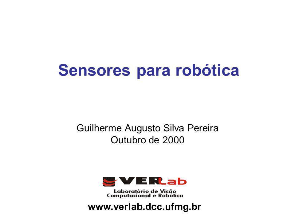 www.verlab.dcc.ufmg.br Sensores para robótica Guilherme Augusto Silva Pereira Outubro de 2000