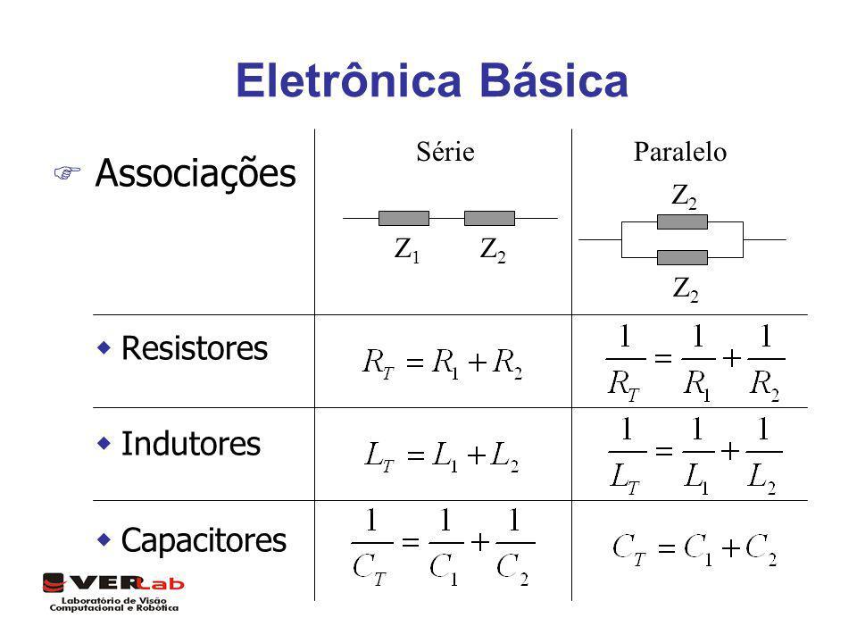 Eletrônica Básica F Associações wResistores wIndutores wCapacitores SérieParalelo Z1Z1 Z2Z2 Z2Z2 Z2Z2
