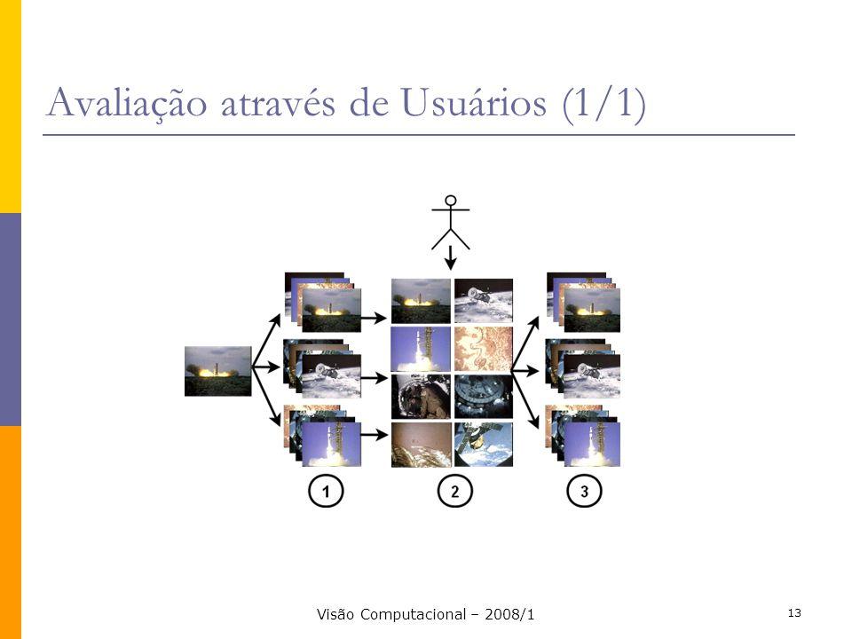 Visão Computacional – 2008/1 13 Avaliação através de Usuários (1/1)