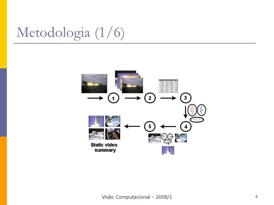 Visão Computacional – 2008/1 6 Metodologia (1/6)