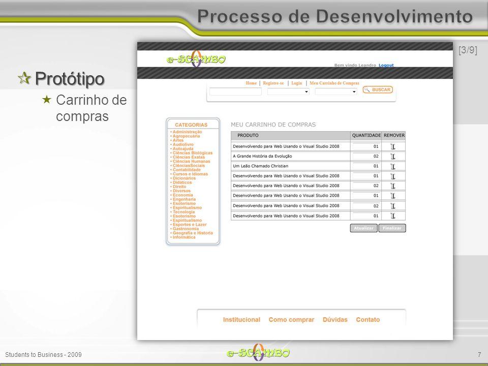 Students to Business - 2009 Protótipo Protótipo Carrinho de compras [3/9] 7