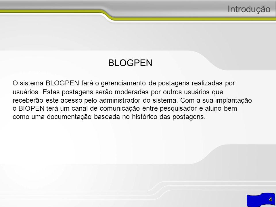 Integração INTEGRAÇÃO ENTRE OS SISTEMAS 5 A integração dos sistemas foi implementada através do uso do XML, funcionando da seguinte maneira: Os módulos Biopen, Relpen e BlogPen utilizam o serviço de autenticação do SSO para gerenciar seus acessos.
