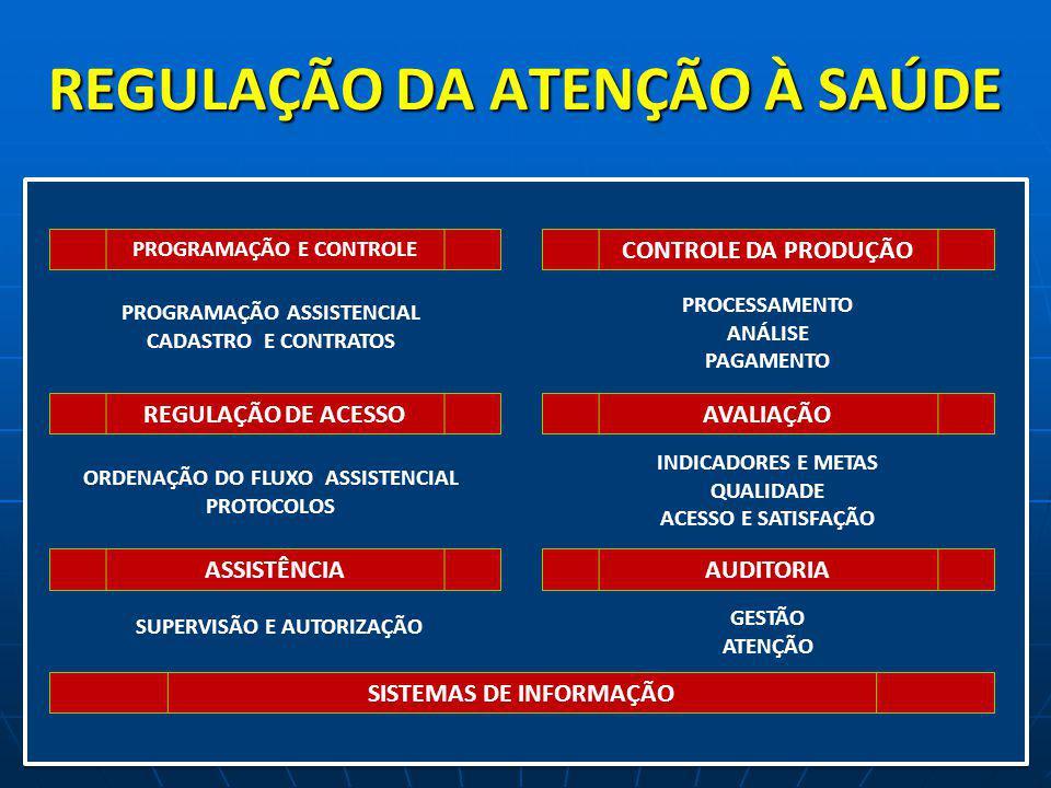CONFORMANDO UM MODELO DE REGULAÇÃO ASSISTENCIAL EIXOS 1.