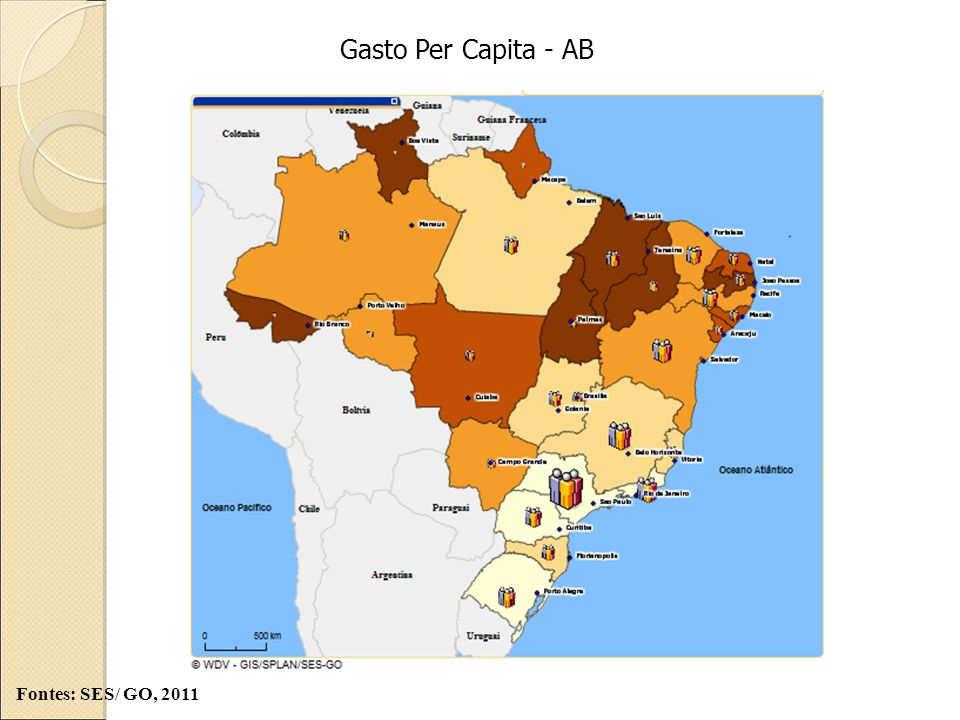 Gasto Per Capita - AB Fontes: SES/ GO, 2011