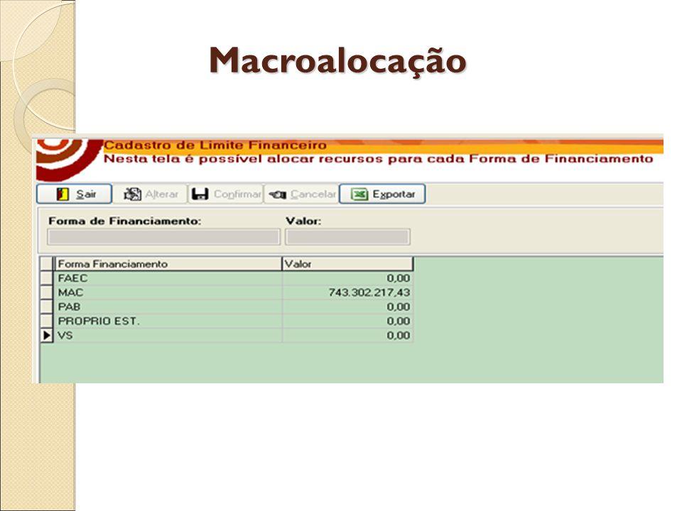 Macroalocação